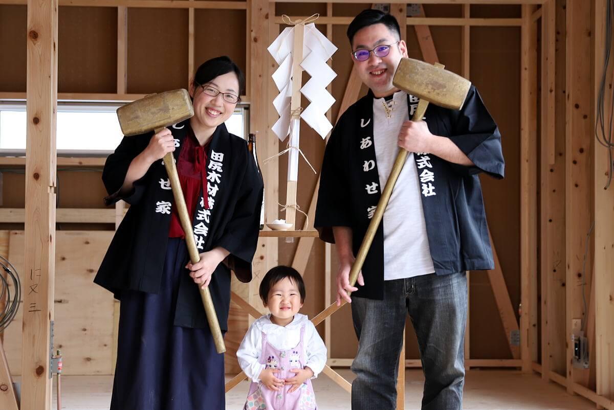 Shiawaseya-長野市のH様邸、上棟式です!!