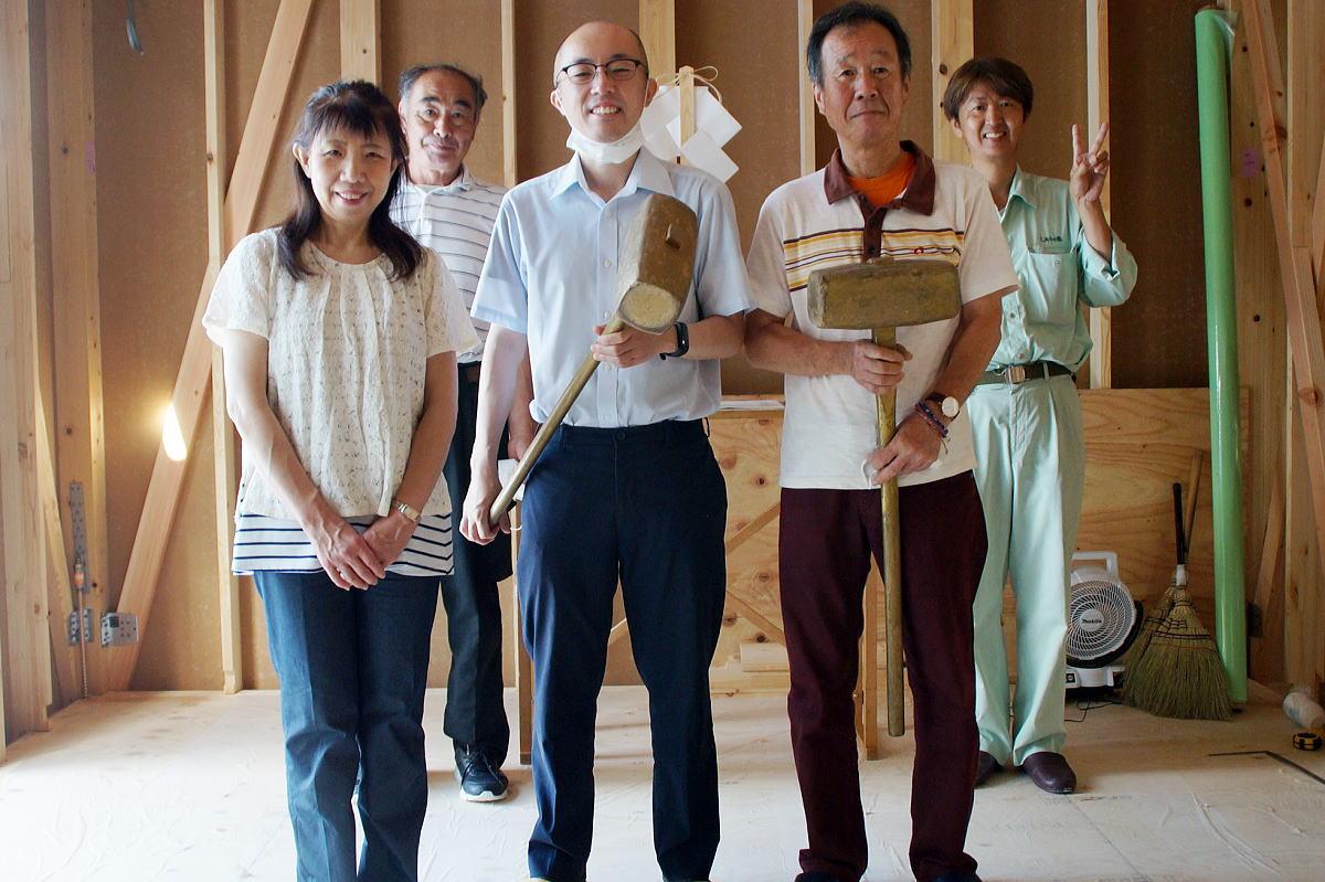 Shiawaseya-長野市のK様邸、上棟式です!!