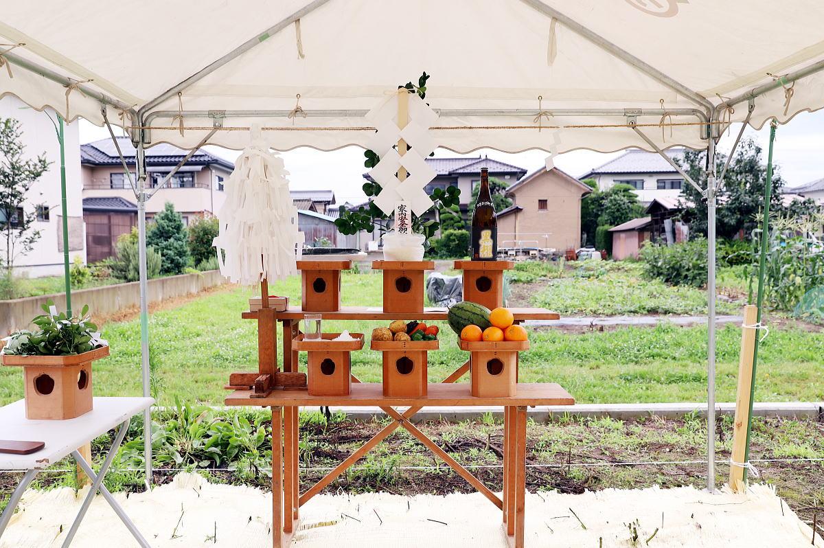 Shiawaseya-長野市のH様邸、地鎮祭です!!