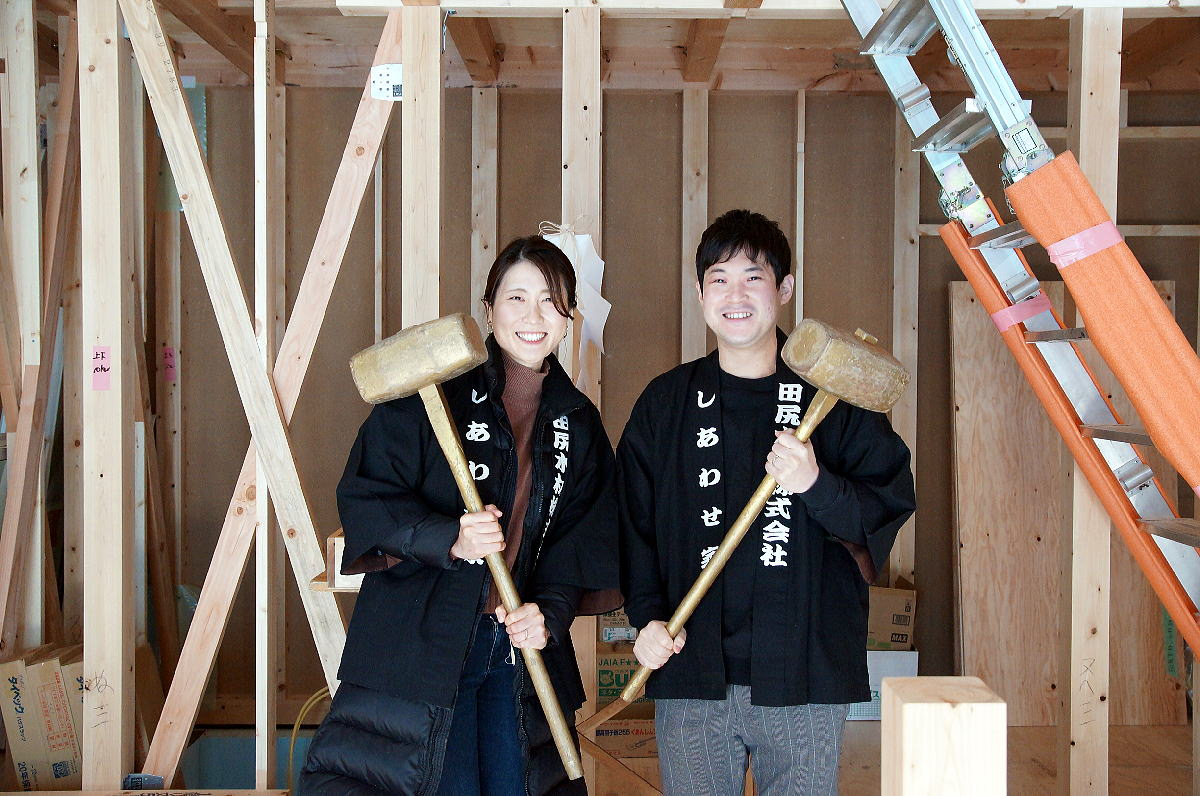 Shiawaseya-上田市のK様邸、上棟式です!!