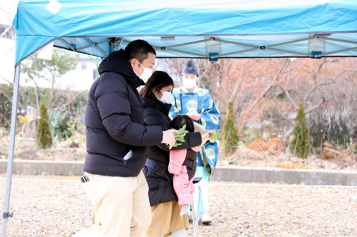 Shiawaseya-「平屋住宅工房」千曲市のO様邸、地鎮祭です!!