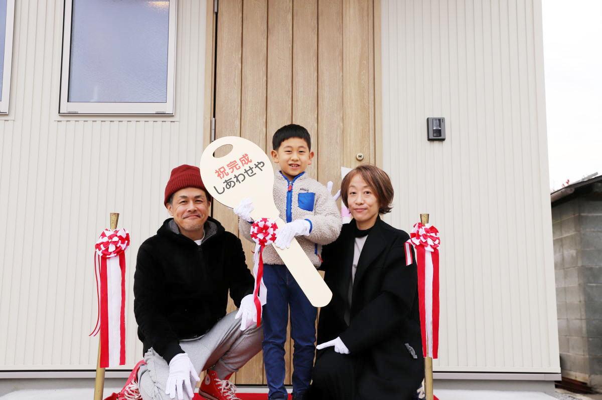 ファミリーライブラリーのある長野市の家1