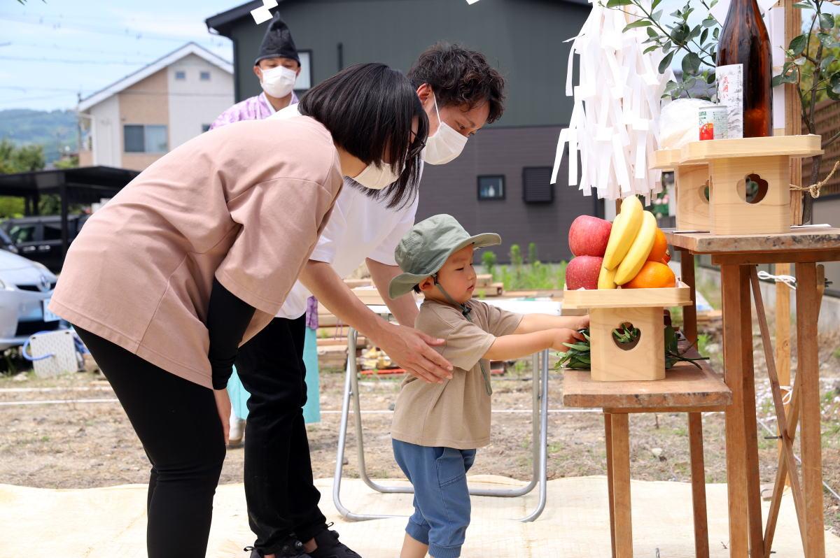 Shiawaseya-長野市のW様邸、地鎮祭です!!