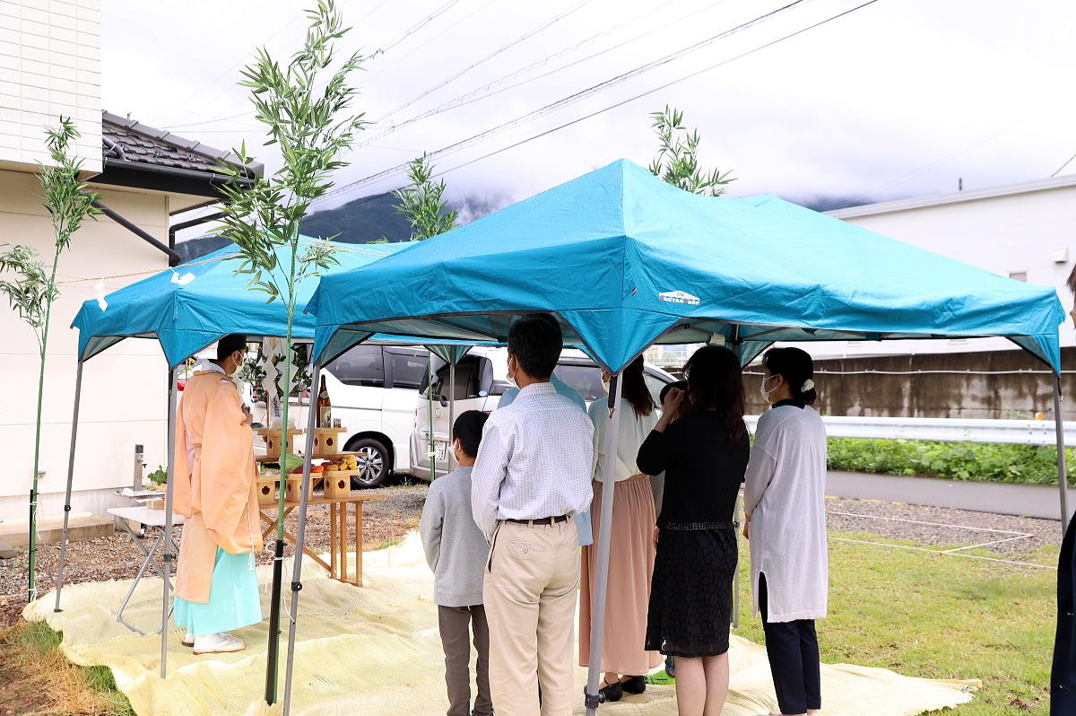 Shiawaseya-坂城町のH様邸、地鎮祭を執り行いました!!